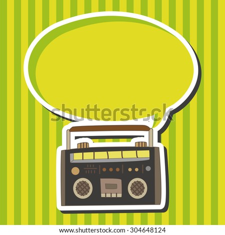 radio, cartoon speech icon