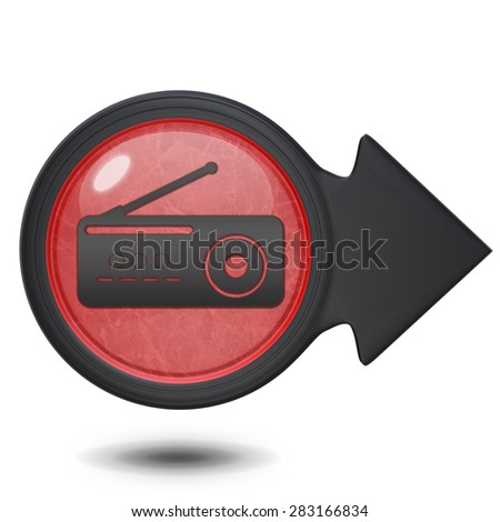 Radio circular icon on white background