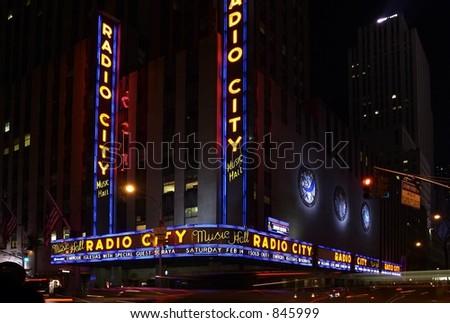 Radio City Music Hall, New York - stock photo