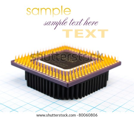 Radio components laid out on the electronic circuit