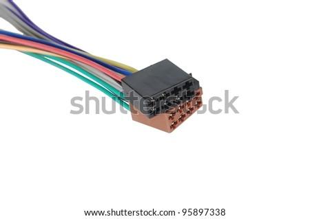 radio connectors on white background - stock photo