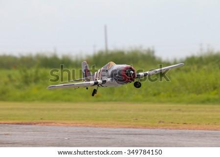 Radio Control scale plane. - stock photo