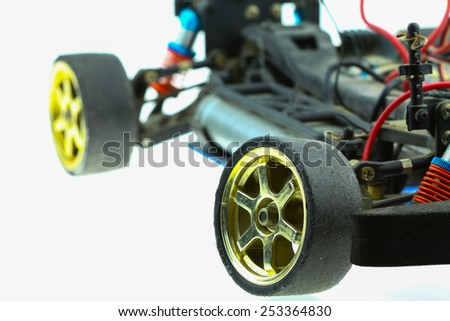 Radio-controlled car - RC cars buggy, machine of electronic car. - stock photo
