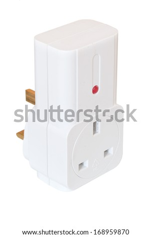 Radio controlled plug isolated on white