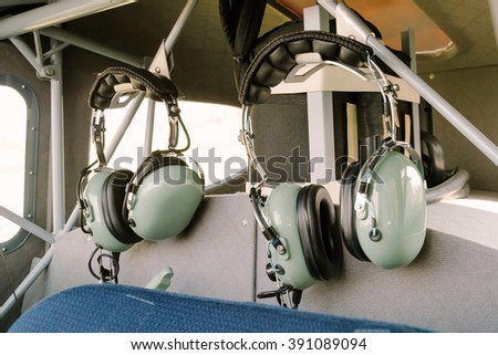 Radio headphones - stock photo