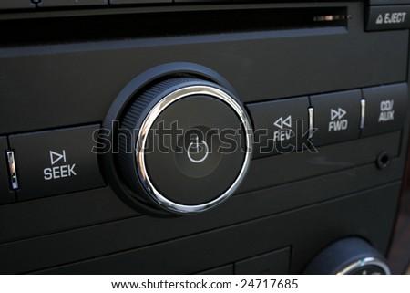 Radio knob - stock photo