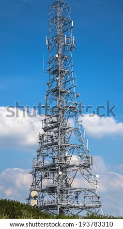 Radio mast at Pale Heights, Cheshire.