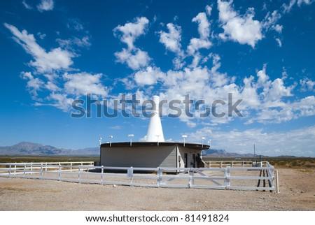 Radio navigation transmitter & antenna - stock photo