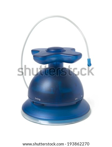 Radio receive blue tone with antenna. Vertical - stock photo