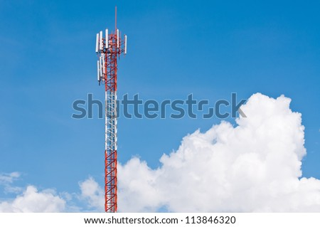 Radio Relay Link, Mobile Base Station - stock photo