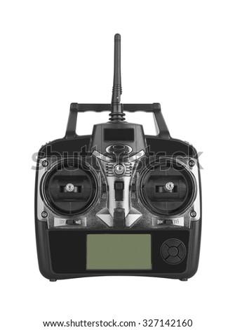 Radio remote control isolated on white background - stock photo