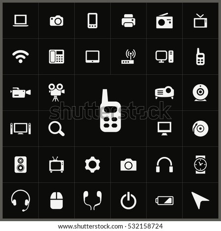 radio set icon. device icons universal set for web and mobile