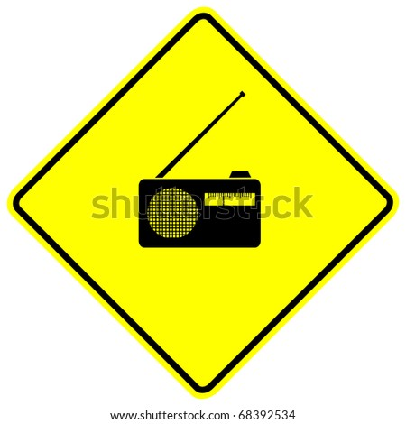 radio sign - stock photo