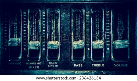radio sound equipment. - stock photo