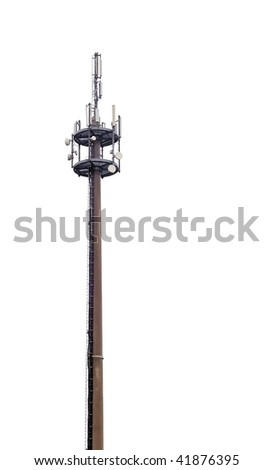 Radio telecommunications tower - stock photo