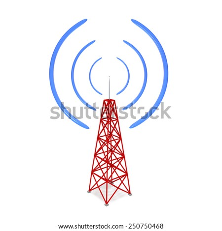 radio tower - stock photo