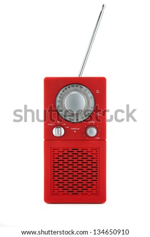 Radio transmitter isolated on white background