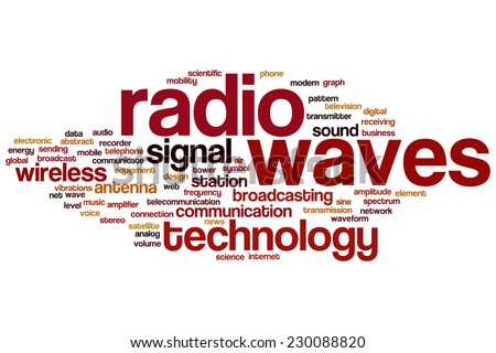 Radio waves word cloud concept - stock photo