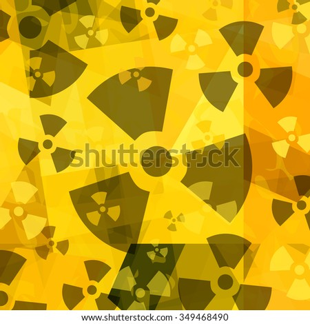 Radioactive background - stock photo
