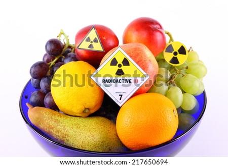 Radioactive fruit - stock photo