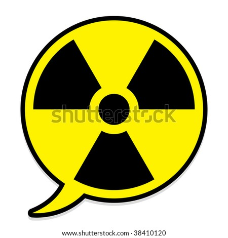 Radioactive icon in speech bubble