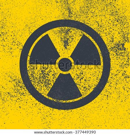 Radioactive symbol. Design element. Simple flat bitmap illustration. - stock photo