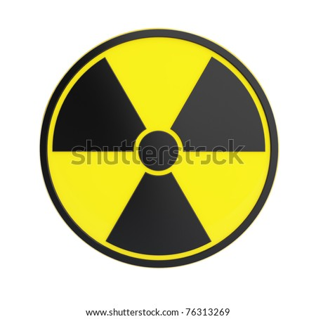 radioactivity sing  isolated on a white background
