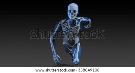 Radiography Scan with Bones as a Science Concept - stock photo