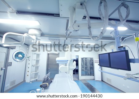 Radiology interventional catheter operation room - stock photo