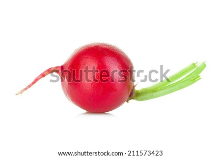Radish isolated on white background.