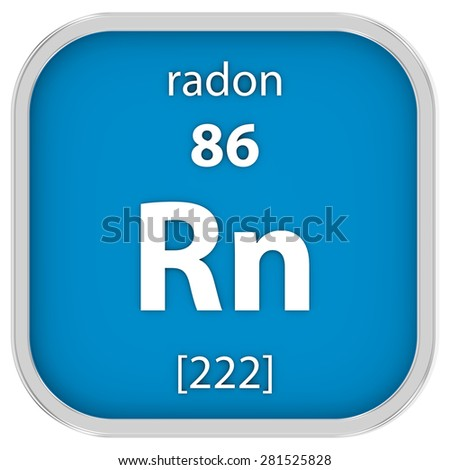 Radon material on the periodic table. Part of a series.
