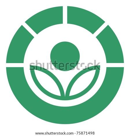 Radura symbol - stock photo