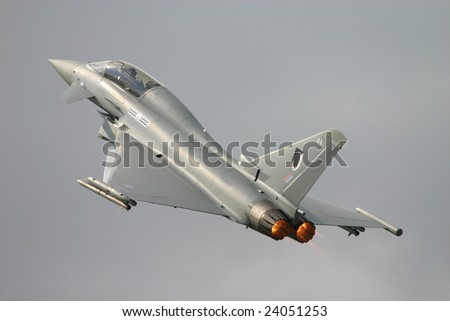 RAF Typhoon - stock photo