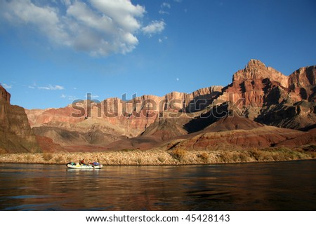 Rafter on the Grand Canyon - stock photo