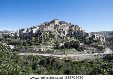 Ragusa Ibla landscape, Sicily, Italy, Europe - stock photo