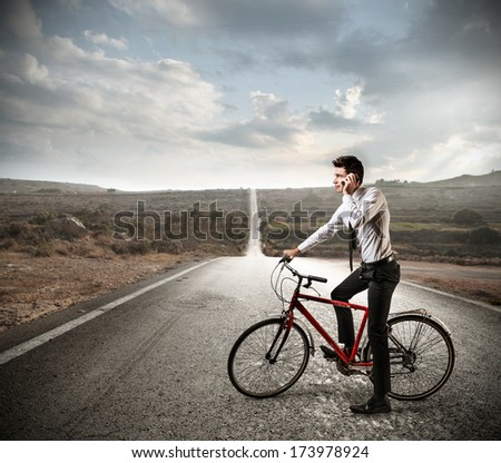 raiding businessman - stock photo
