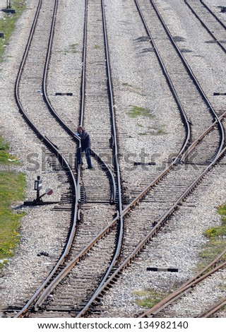 rail - stock photo