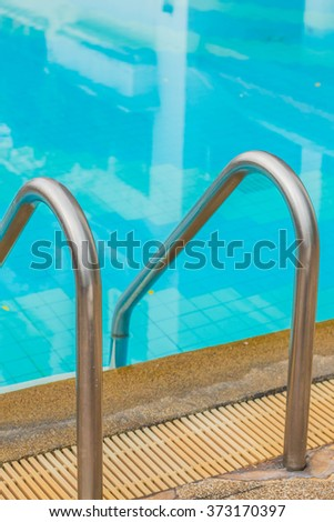 Rail ladders at the pool.