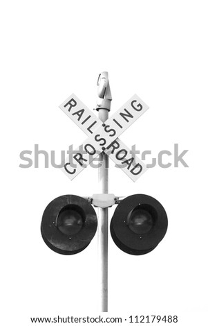 Rail Road Crossing signal - stock photo