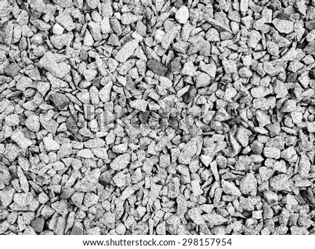 Rail road track stones close-up as background - stock photo