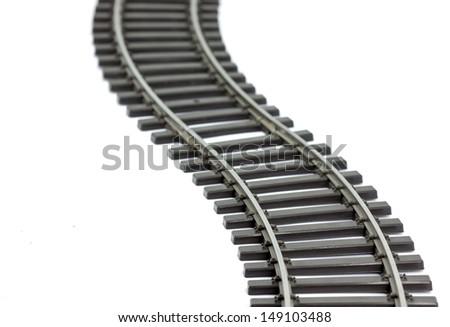 Rail track - stock photo