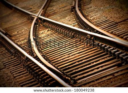 Rail tracks - stock photo
