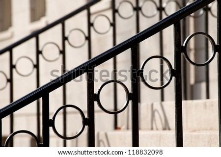 Railing of a staircase - stock photo