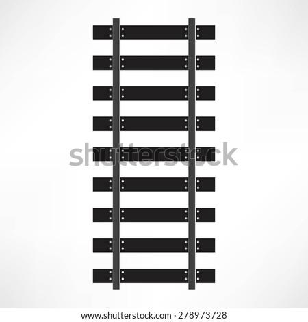 Railroad icon - stock photo