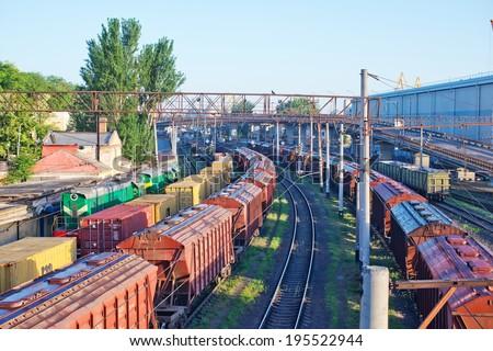 railroad in Ukraine - stock photo