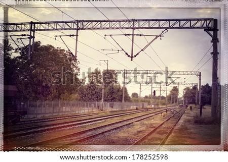 Railroad Landscape - stock photo