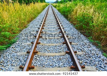 Railroad Long - stock photo