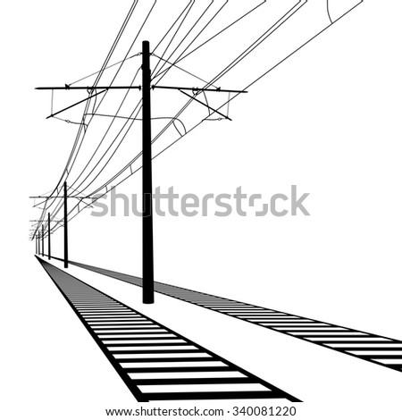 Railroad Overhead Lines Contact Wire Vector 329109704 on light tower wiring