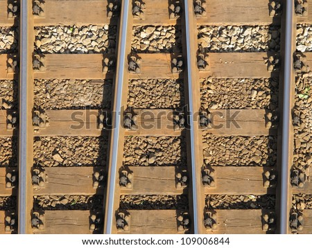 Railroad  ties - stock photo