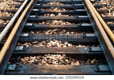 Railroad Track / Railroad Track  - stock photo